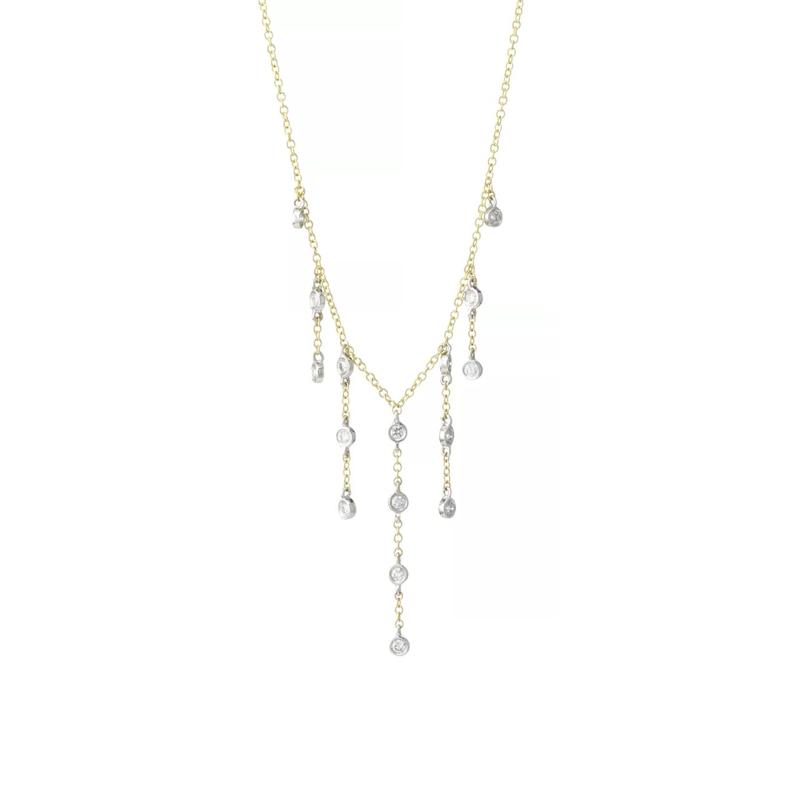 Meira T Diamond Dangle Necklace 14K