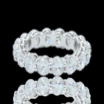 Oval Diamond Eternity Band - Custom Order