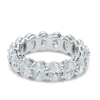 Oval Diamond Eternity Band - Custom Order