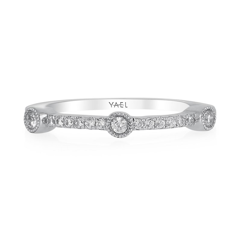 Yael Designs Stackable Diamond Fashion Ring 18KW