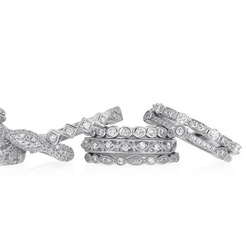 Stackable Diamond Fashion Ring 18KW