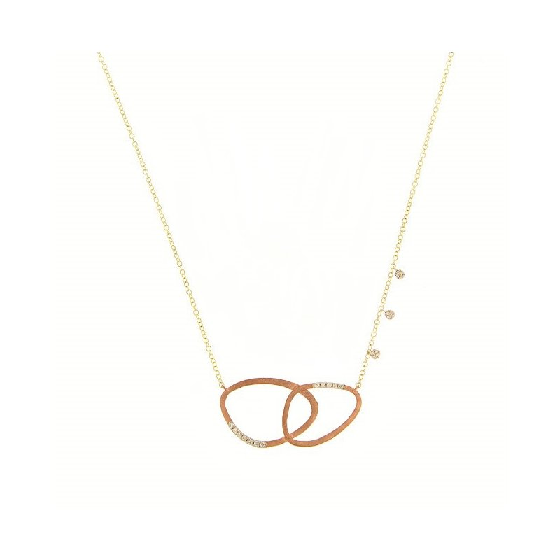 Meira T Double CIrcle Necklace
