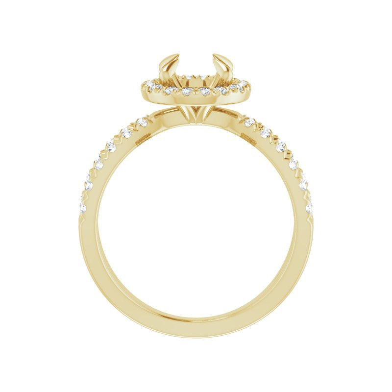 Gallery Designs Split Halo Engagement Ring Setting 14KY