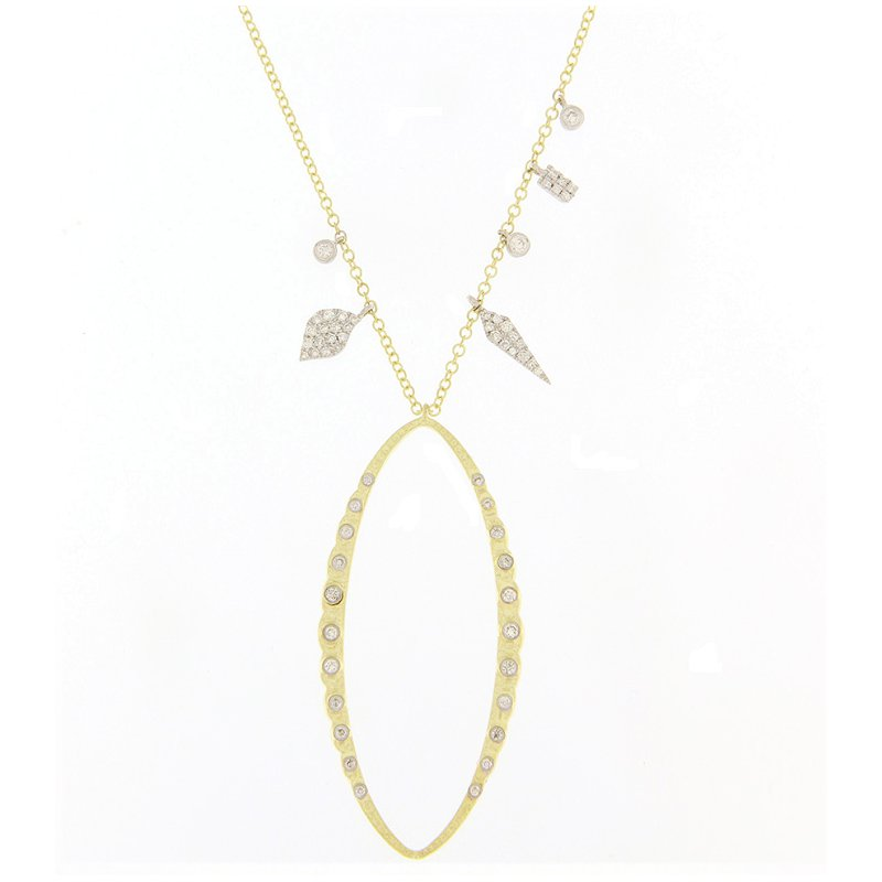 Meira T Textured Drop Necklace