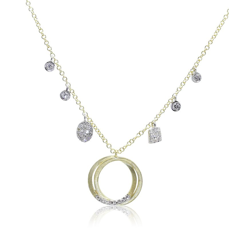 Meira T Interlocking Circle Necklace 14KY