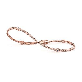 Rose Gold Stations Tennis Bracelet