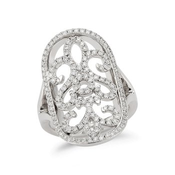 Filigree Diamond Ring