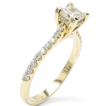 Princess Engagement Ring 14KY