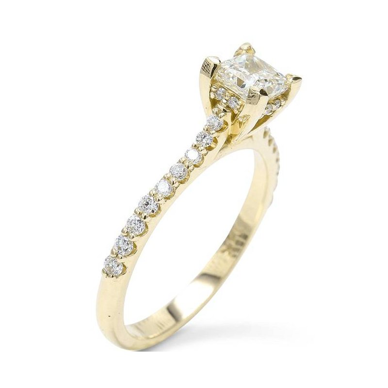 Ascencio Designs Princess Engagement Ring 14KY