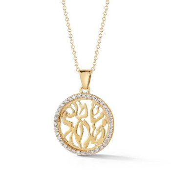 14K-Y SHEMA YISRAEL PEND., 0.30CT