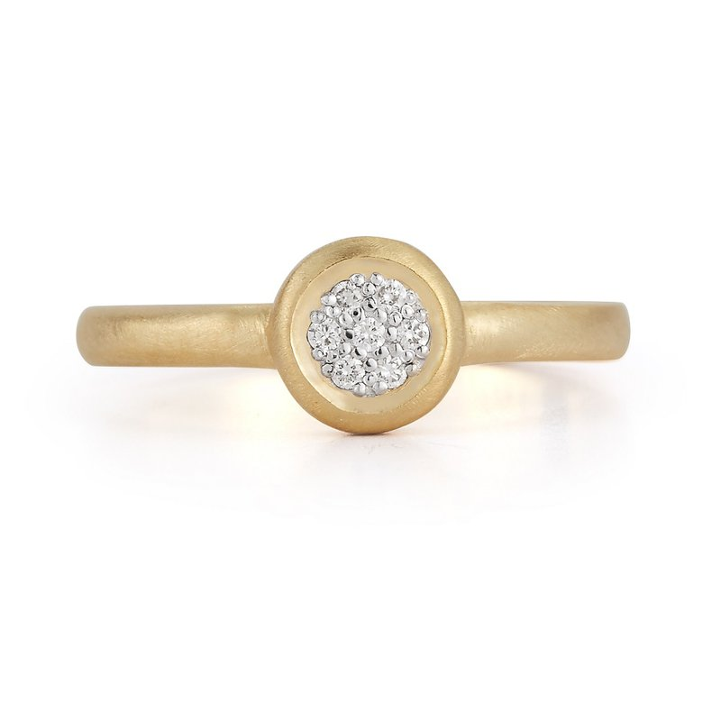 I. Reiss Round Pave Ring 14KY