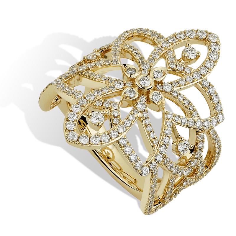 Isadora Open Work Floral Ring
