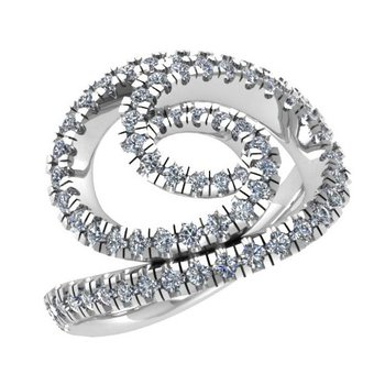 Spiral Diamond Ring 18KW