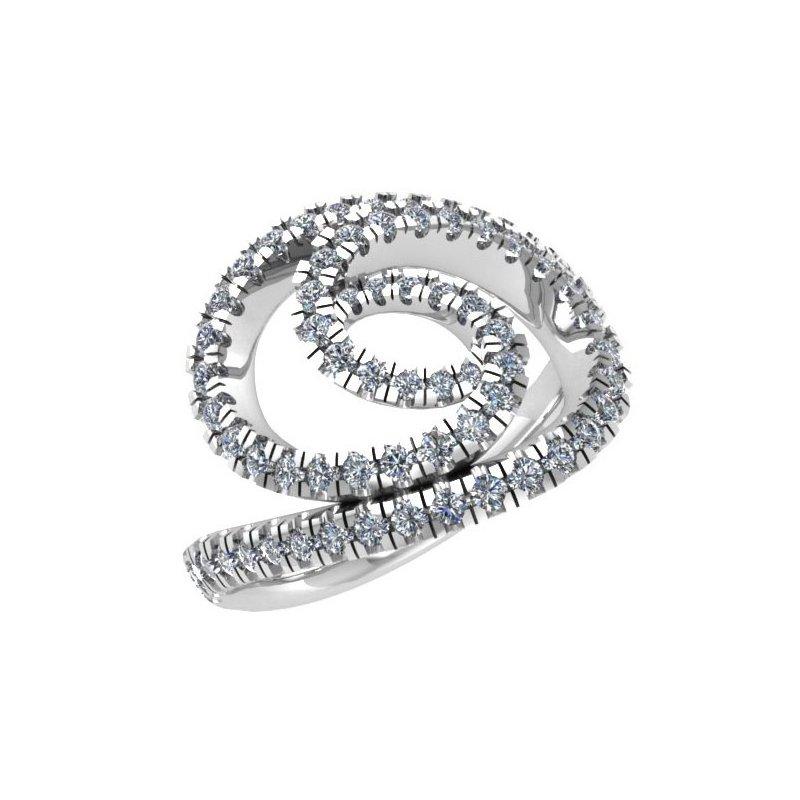 Isadora Spiral Diamond Ring 18KW