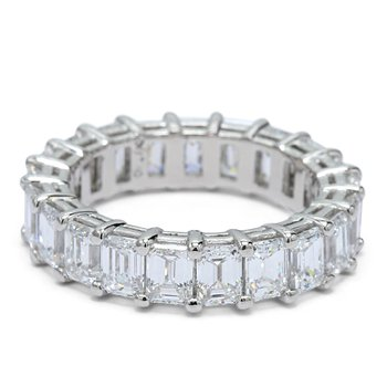 Emerald Cut Eternity Band - Custom Order
