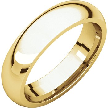 14K Yellow 5mm Comfort Fit Band