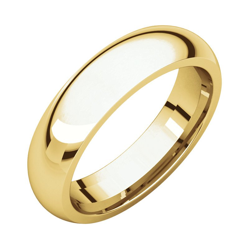 Gallery Designs 14K Yellow 5mm Comfort Fit Band