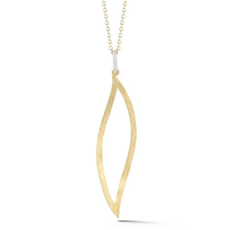 I. Reiss Open Leaf Pendant 14KY