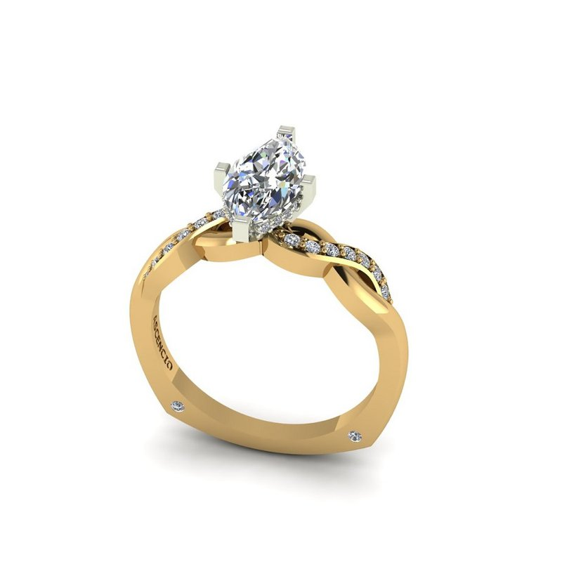 Ascencio Designs Infinity Engagement Ring