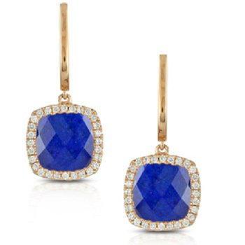 Royal Lapis Halo Dangles