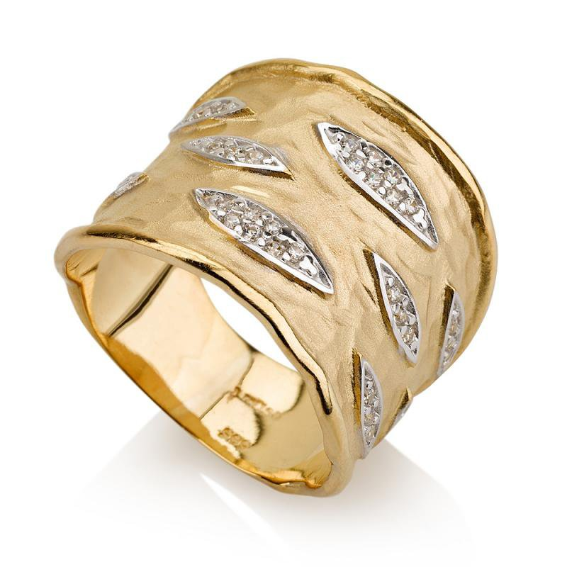 I. Reiss 14K-Y CUFF RING, 0.25CT