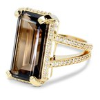 Daniels Designs Rectangle Smokey Quartz Ring