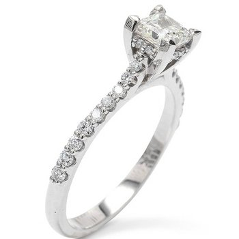 Modern Cathedral Engagement Ring