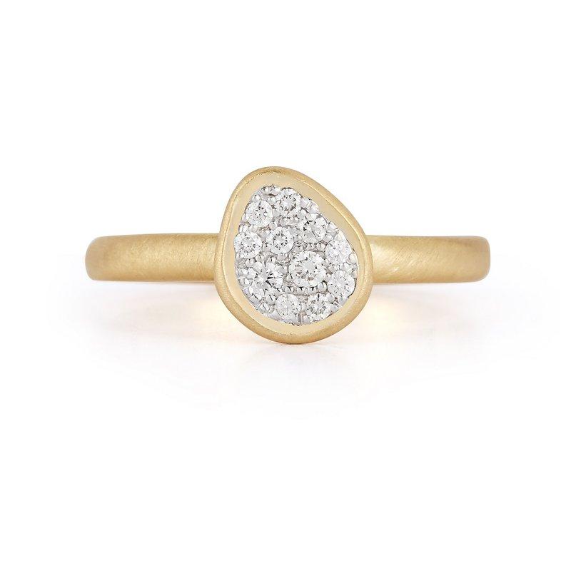 I. Reiss Freeform Diamond Ring 14KY