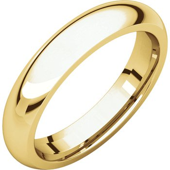 14K Yellow 4mm Comfort Fit Band