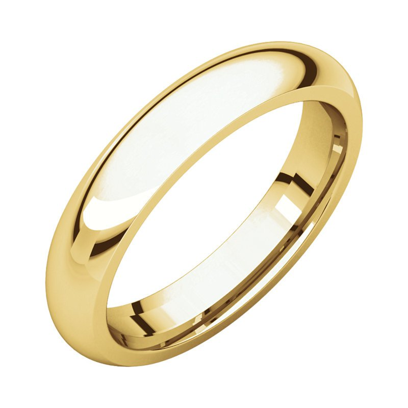 Gallery Designs 14K Yellow 4mm Comfort Fit Band