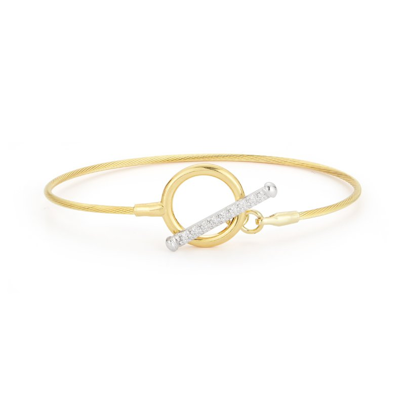 I. Reiss 14K-Y TOGGLE WIRE BR., 0.10CT