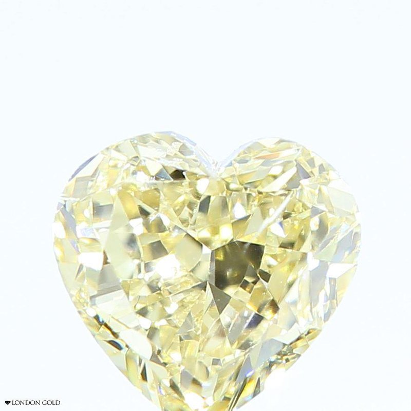 Colored Diamonds 1.02 Heart Fancy Brown Yellow