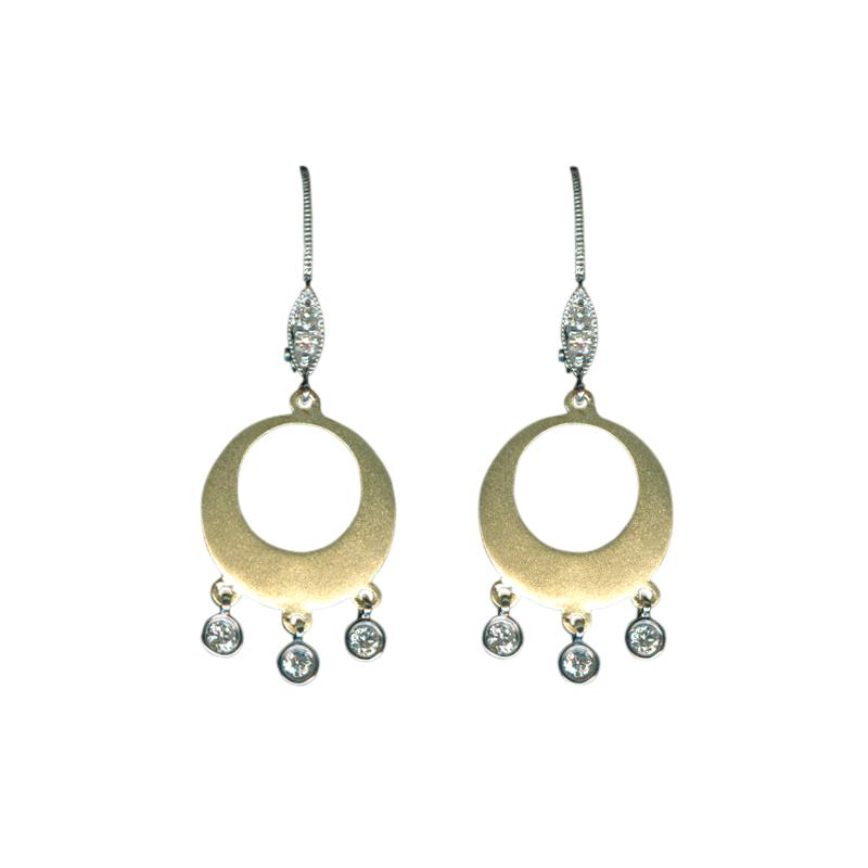 Meira T Dangle Diamond Earrings