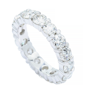 3.87cttw Common Prong Eternity Band