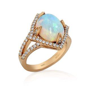 Opal & Diamond Ring 18KR