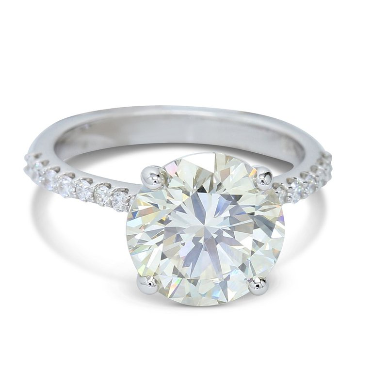 Ascencio Designs 4.19ct Cathedral Style Engagement Ring 14KW