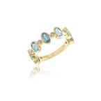 Meira T Blue Topaz Bezel Ring 14KY