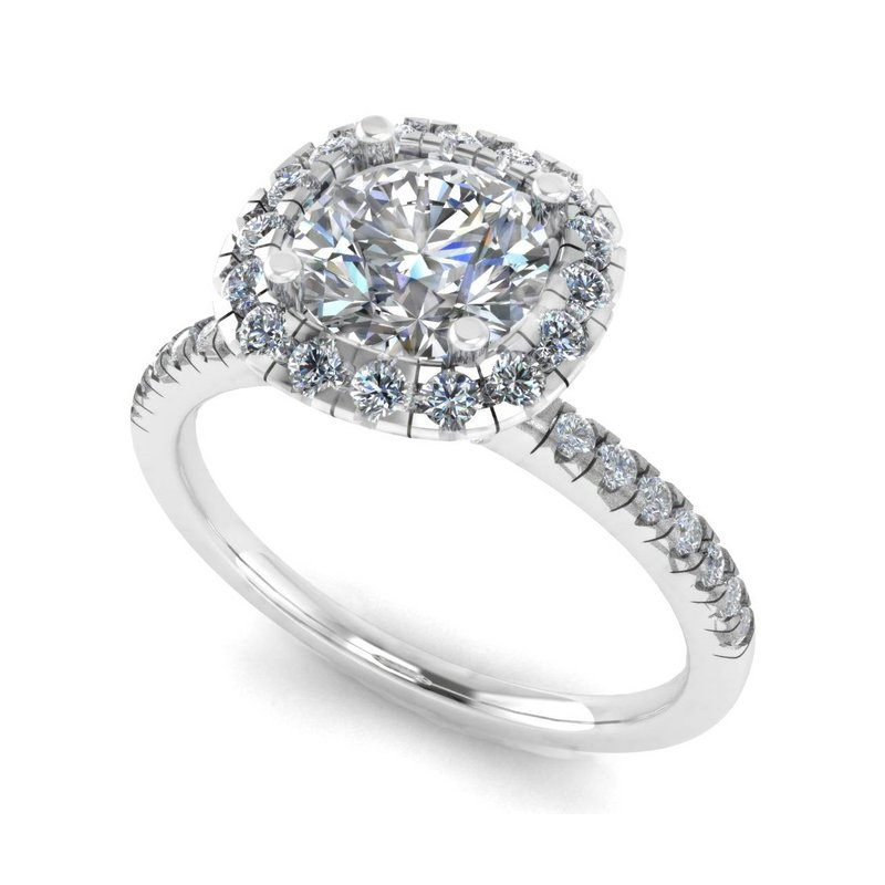 Isadora Halo Engagement Ring - Setting Only