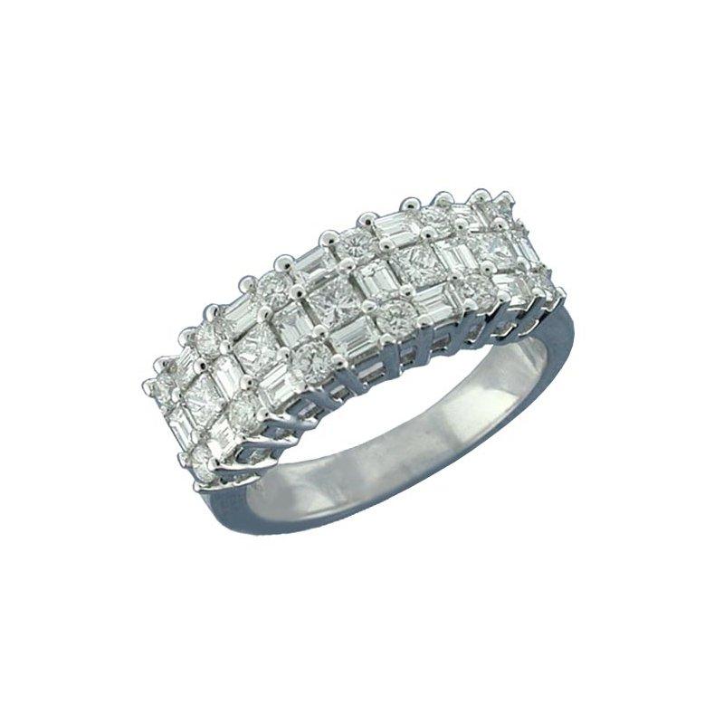 Isadora Three Row Diamond Ring