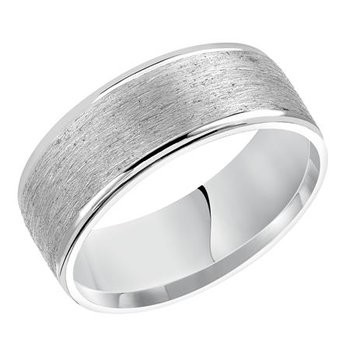 8MM Flat Wire Finish Wedding Band