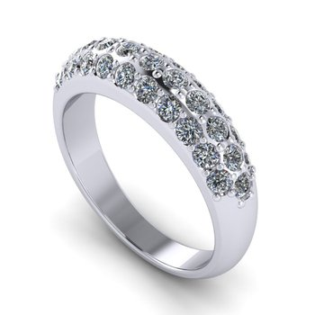 Domed Women's Diamond Band