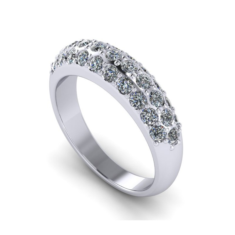 Lunaria Domed Women's Diamond Band