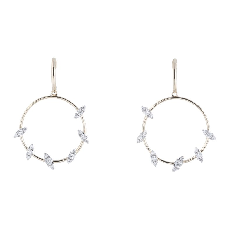 Sophia by Design Circle Diamond Dangles 14KY
