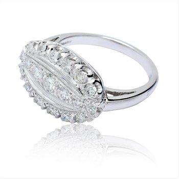 Vintage Diamond Ring 14KW