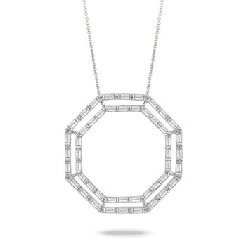 Octagon Diamond Necklace
