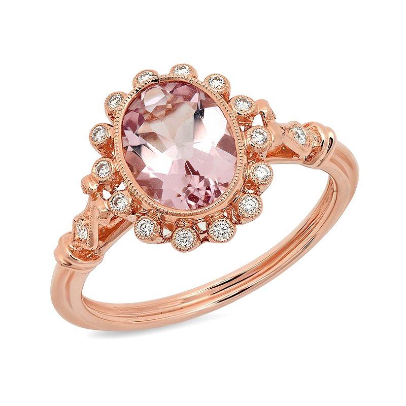 Beverley K Oval Morganite Ring