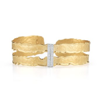Cut-Out Narrow Cuff Bracelet