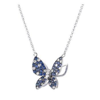 Butterfly Sapphire & Diamond Necklace