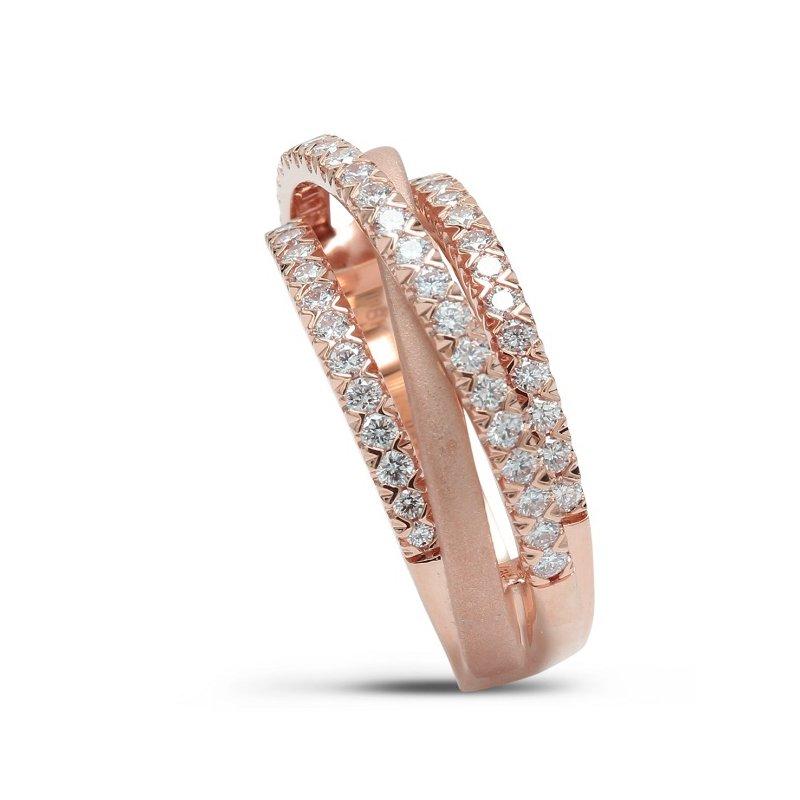 Isadora Layered Diamond Band 18KR
