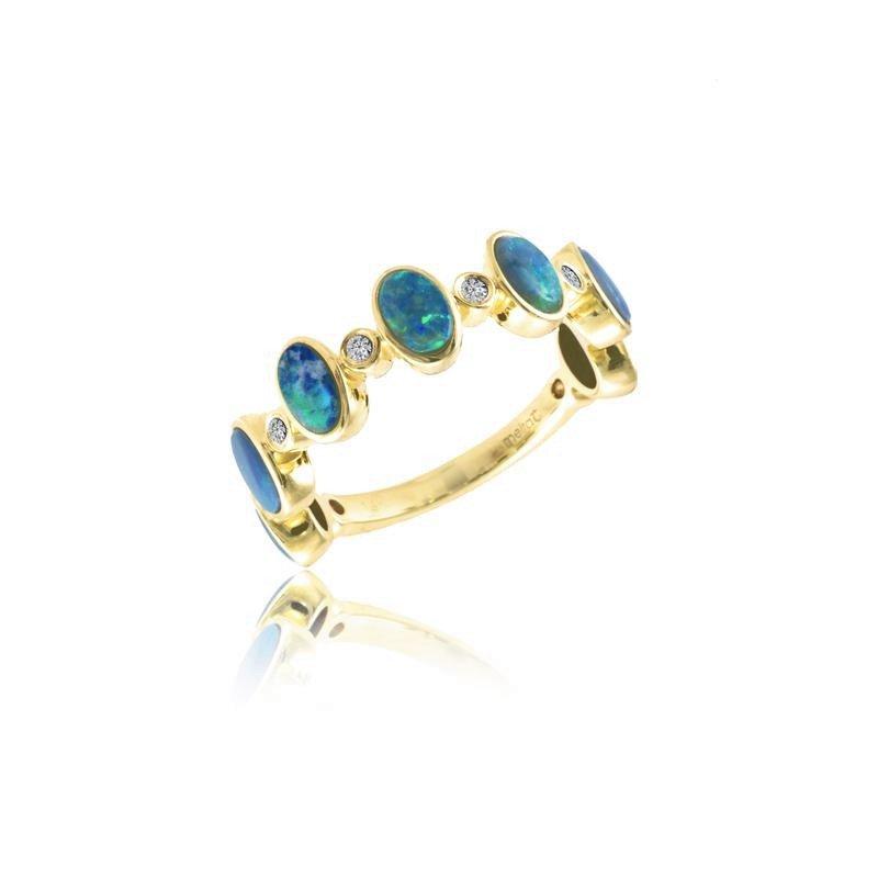 Meira T Opal Bezel Ring 14KY